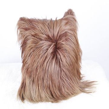 Wholesale Perfect Long Hair Goat Leather Cushion Cover