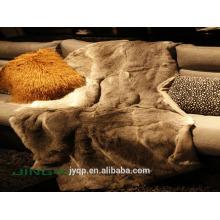 Наиболее популярные горячий продавать мех кролика одеяло