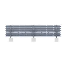 250KW en sistema de montaje solar de aluminio de tierra de rejilla
