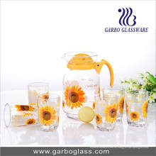 Set of 7PCS Decal Printing Water Glassware