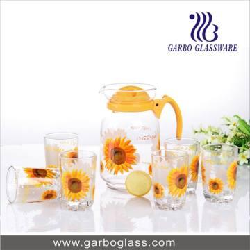 Ensemble de citrons en verre à chaud
