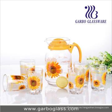 Set of 7PCS Decal Printing Water Glassware