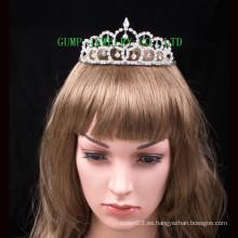 Tiara de plata barata del rhinestone de las muchachas de la tiara