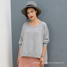 Suéter de cachemira pura de alta calidad suéter de punto casual suéter de color sólido