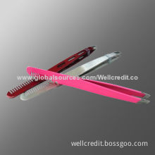 Hot selling eyebrow tweezer with comb in low price