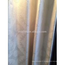 Nouvelle arrivée Tissu de rideau et de rideau jacquard en dentelle en polyester 100% poli et moderne