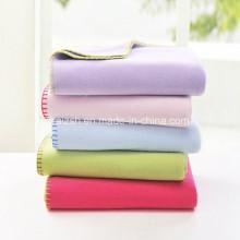 Superfine manta de lã simples manta de bebê sólido cobertor de Napping