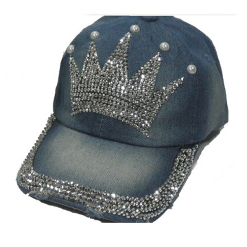 2014 new arrival cowboy crown rhinestones snapback caps fashion design women hats