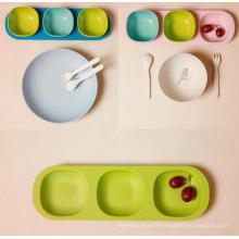 (BC-CS1077) Ensemble de vaisselle en fibre de bambou pour enfants