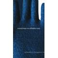 Towel liner Blue nitrile fully coated gloves