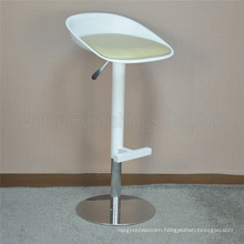 Adjustable Swivel White Spoon Plastic Seat Bar Stool (SP-UBC200)