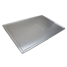 Feuille plate perforée antiadhésive en aluminium