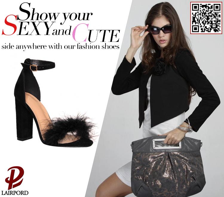 e00ed7d7077 Ψηλά τακούνια φουσκωτά γυναικεία σανδάλια με γούνα - Bossgoo.com