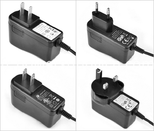 12W 15W 18W UK US AU EU Power Adapter