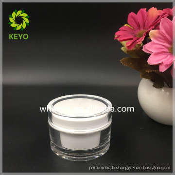 hot sale high quality 50g acrylic jar double wall plastic cream jar