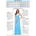 Neue Ankunft 2015 Grace Karin quadratische Ausschnitt-lange Hülse plus Größen-Abend-Kleider für fette Frauen CL6051-1