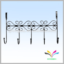 Wrought iron classical back-door hanging cloth metal wire bag hook