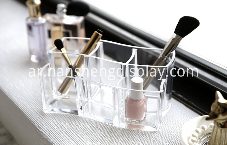 Acrylic Cosmetics Makeup Brush Holder