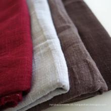 Tejido de lino suave de bambú 70% viscosa y 30% de lino