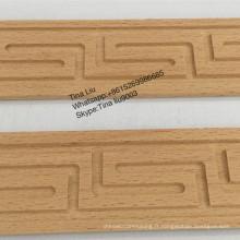 moulures en bois de hêtre sculptées à la main non peintes