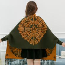 Nuevo invierno viscosa viscosa mantón chal mujeres Viscosa 30%, poliéster 70% bufanda pashmina bordada