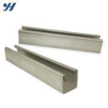 Resistência à corrosão galvanizada com ranhura c perfil em aço c canal em aço dimensões canal