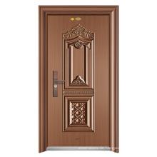 ShuangYing Sicherheit Eintrag Stahl Tür-Glory Golden City-Colorful Kupfer / Fabrik direkt liefern