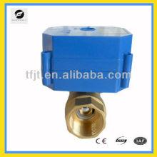 Формате cwx-60р 2-выход 12В Латунь резьба BSP конце Ду25 электрический контроль запорной арматуры для серый система контроля воды автоматически