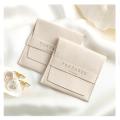 Cajas de joyería blancas de lujo del collar de la pulsera del papel de la cartulina