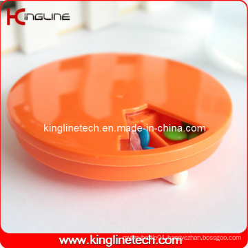 Plastic Round 7 Days Pill Box (KL-9065)