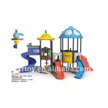 Naughty fort plástico playground equipamentos