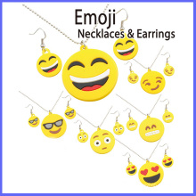 Ensemble de bijoux et boucles d'oreilles en alliage de zinc Emoji