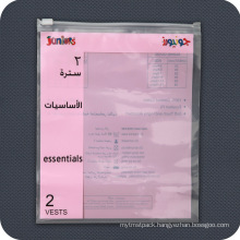 Resealable Plastic Zipper Bag