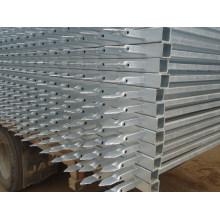 Panneau de clôture en garniture galvanisée à chaud de qualité supérieure