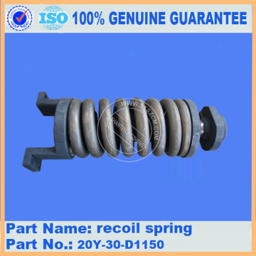 Komatsu spare parts PC200-7 recoil spring 20Y-30-D1150 for Undercarriage parts