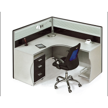 practical single glass partition office supplied with drawer