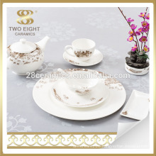 High quality fine bone china wholesale decal dinner set dinners sets