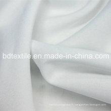 Tissu en polyester blanc pur