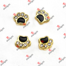 Gold Dog Paw Floating encantos para la vida Memory Lockets (FC)