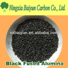 Corindon noir / alumine fusionnée noire pour le meulage et le polissage