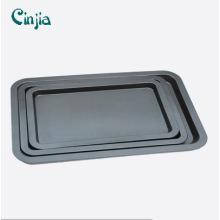 Bandeja para hornear de galletas antiadherentes de acero al carbono recubiertas con bandejas para hornear de teflón
