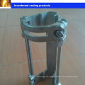 Oil well work cable control line clamp protector
