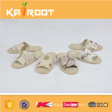 summer natural linen new models slippers sandals for men