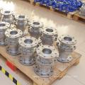 Heißer Verkauf 2 Möglichkeit Edelstahl Flansch Typ Kugelhahn Fabrik Preis