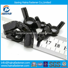 Black plated carbon steel butterfly wing nut with all size