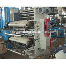 YT-2600 duas cores rolo de filme plástico para rolar mini preço da máquina de impressão offset