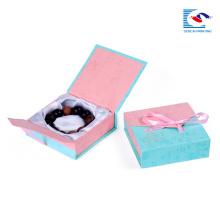 O costume imprimiu caixas luxuosas de papel de empacotamento da jóia do cartão do quadrado de Brown do papel de embalagem