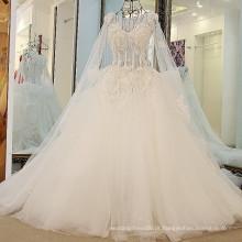 RP58332 Pedras preciosas de cristais pesados bonitão suzhou branco vestidos inchados vestidos de noiva para meninas