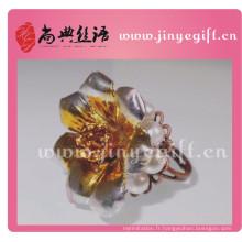 Europe Ceramic Gold Flower Gold Bagues en cuivre