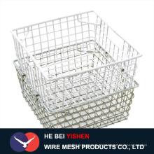 Cesta de armazenamento de malha de arame / fabricação de cestas de fio de aço inoxidável na China
